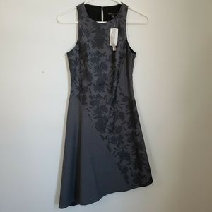 NWT Banana Republic Dress Size 00P Gray Bias Cut